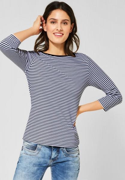 Street One - Basic Shirt mit Streifen in White