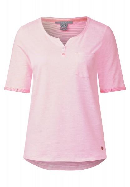 CECIL - Fein gestreiftes Shirt in Neon Pink