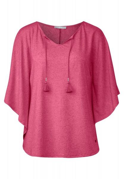 CECIL - Fledermaus Shirt in Melange in Caribbean Pink Melange