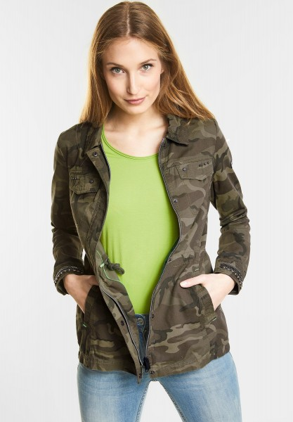 CECIL Dekorative Jacke in Smoky Khaki