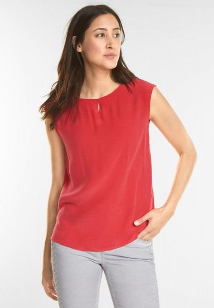 Street One - Schlichtes Top in Hibiscus Red