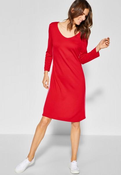 Street One - Sweat-Kleid mit Streifen in Vivid Red