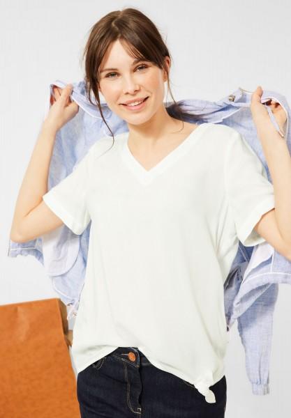 CECIL - Bluse mit Knoten Detail in Pure Off White