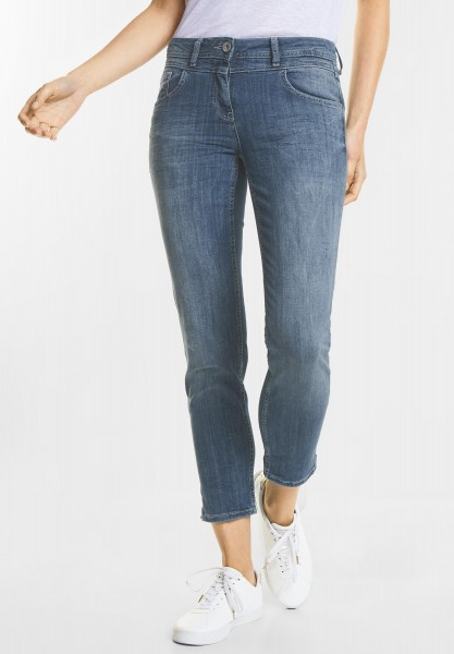 CECIL - Tight Fit Denim Charlize in Authentic Used Wash Mid Blue