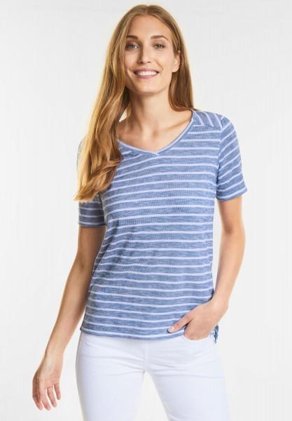 CECIL - Lässiges Streifen Shirt in Powder Blue