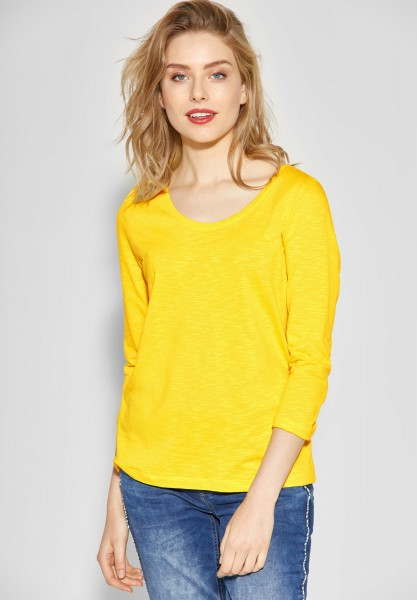 Street One - Shirt im Basic-Style in Creamy Lemon