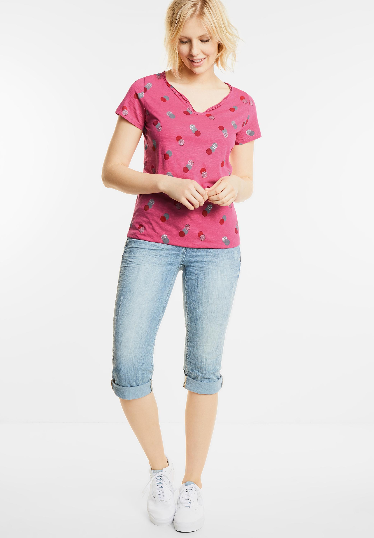Shirt mit Punkte-Print in Caribbean Pink von CECIL online ...