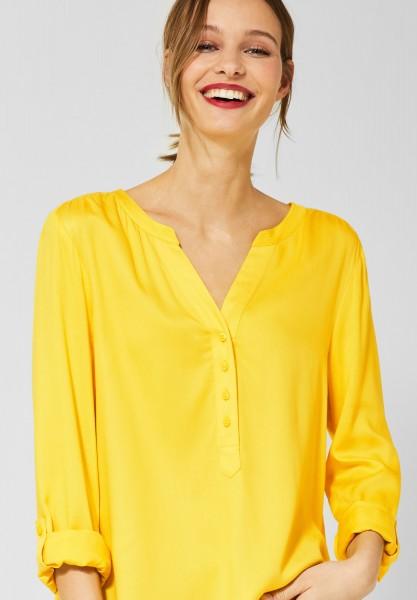 Street One - Bluse Bamika im Basic Style in Shiny Yellow