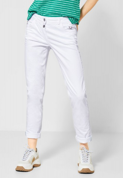 CECIL - Colour Hose im Casual Fit in White