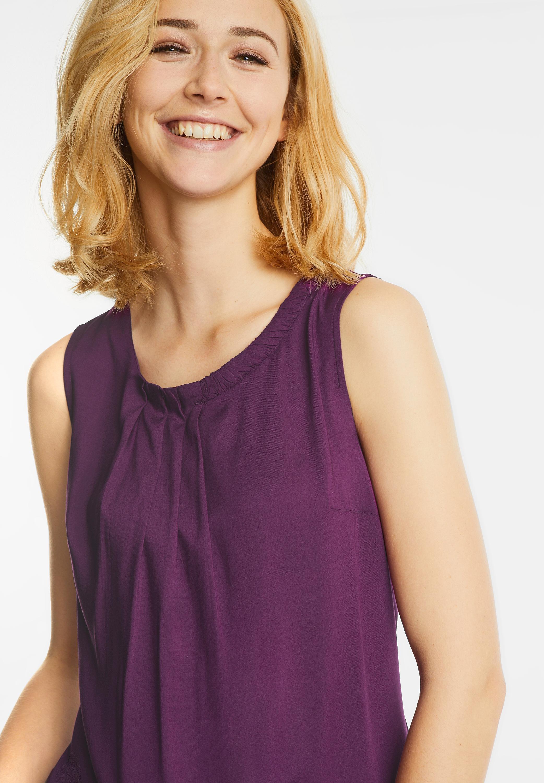 Einfarbiges Blusentop Flavia in Sunny Violet von Street One Sale | CONCEPT  Mode