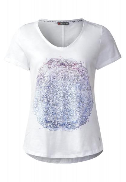 Street One - Mandala Print Shirt Senta in White