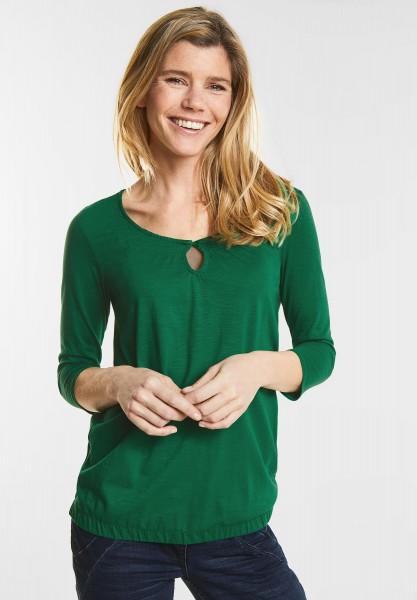 CECIL - Basic 3/4-Arm Shirt Adriana in Clover Green