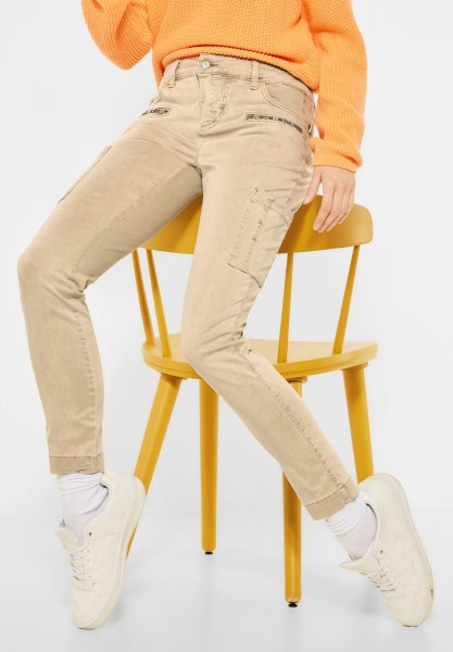 Street One - Slim Fit im Cargo Style in Hot Sand
