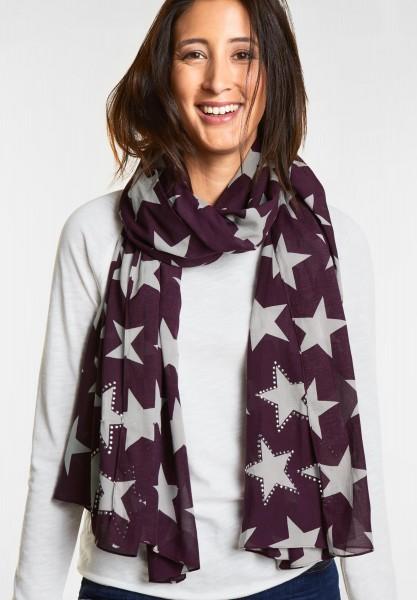 Street One - Schal mit Sterne in Mystique Berry