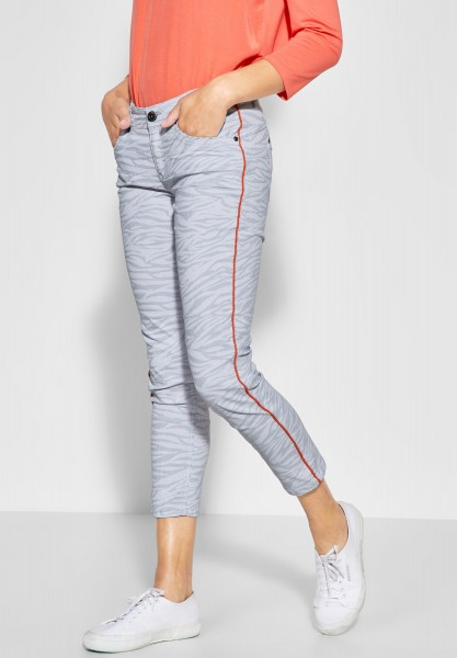 Street One - Denim mit Zebra Print Yulius in Shadow Grey