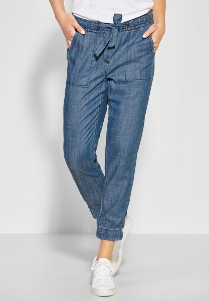 CECIL - Lyocell Hose im Denim-Style in Authentic Used Wash
