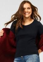 CECIL - Basic Shirt in Unifarbe in Schwarz