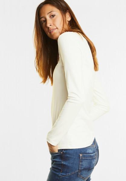 Street One - Organic Langarmshirt Uta in Off White