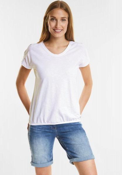 CECIL - Cooles Cold-Shoulder Shirt in White