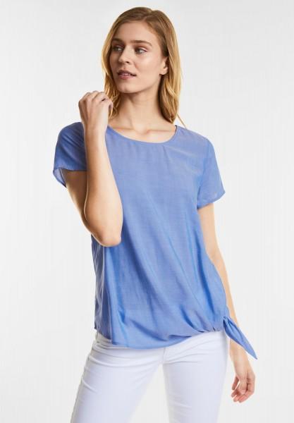 Street One Leichte Bluse im Denim Style in Jaspis Blue