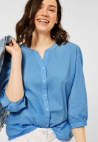 CECIL - Bluse mit Knopfleiste in Blissful Blue
