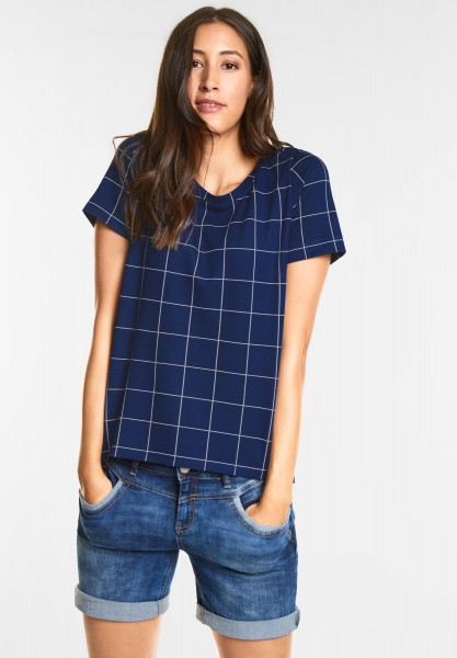 Street One Cooles Karo Shirt in Saphire Blue