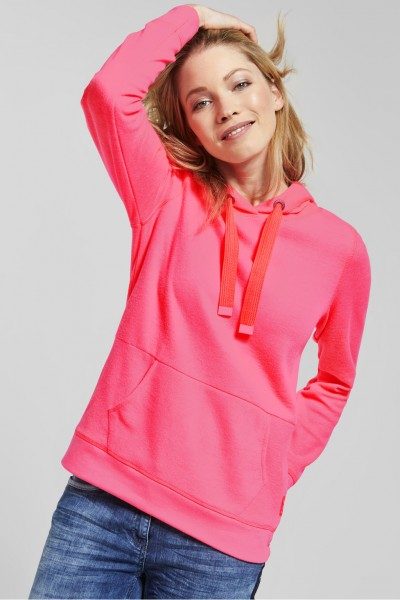 CECIL - Shirt im Hoodie-Style in Diva Pink