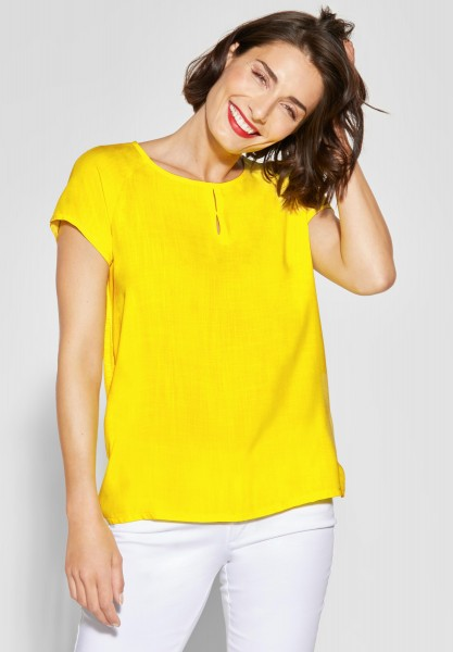 Street One - Raglanbluse mit Cut-Out in Sunshine Yellow