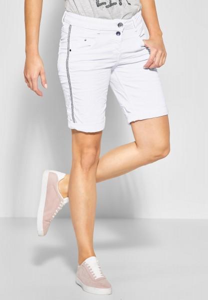 CECIL - Verzierte Shorts Scarlett in White