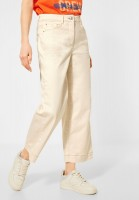 CECIL - Slim Fit mit Wide Legs in Raw Sand Beige