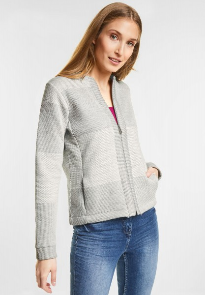 CECIL - Jacke mit Patchworkprint in Pure Off White