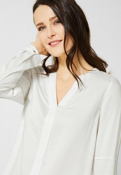 CECIL - Unifarbene Bluse in Pure Off White