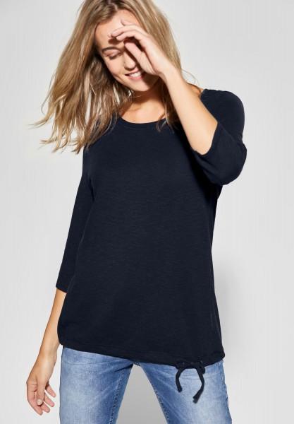 CECIL - Shirt mit Knotendetail Melia in Deep Blue