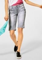 Street One - Bermuda Short in grau in Clear Grey Random Bleach