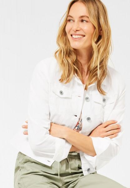 CECIL - Denim Jacke in Colour in White