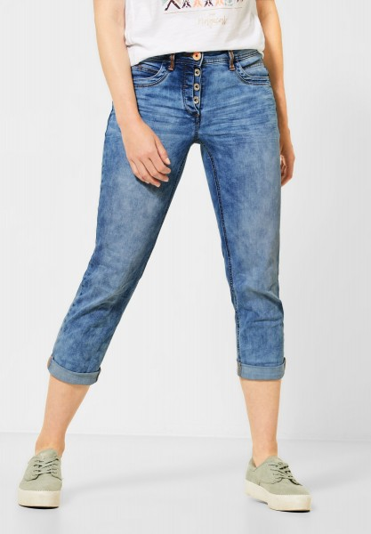 CECIL - Loose Fit Denim in Light Blue Used Wash