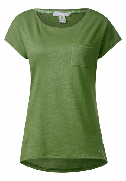 CECIL - Basic Style Shirt mit Tasche in Matcha Tea Green