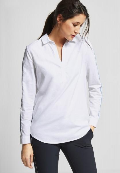 Street One - Baumwoll Bluse mit Streifen in White