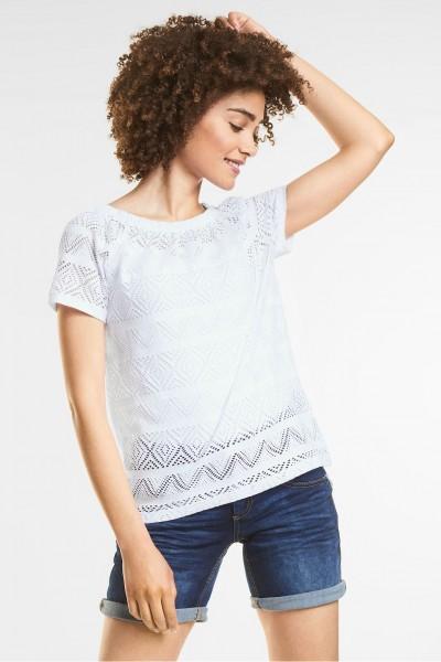 Street One - Feminines Struktur Shirt in White