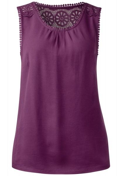Street One - Spitzen Shirttop Safia in Sunny Violet