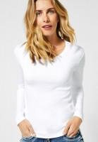CECIL - Basic Langarmshirt in White