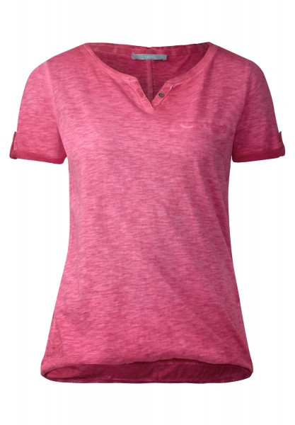 CECIL - Washed Look T-Shirt Anni in Just Red