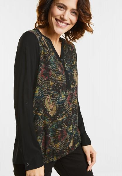 CECIL - Bluse mit Brokatprint Front in Black