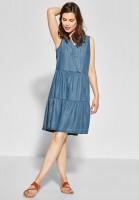 CECIL - Kleid im Denim-Style in Mid Blue Wash