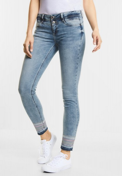 Street One - Casual Fit Denim Jane in Fancy Random Bleach