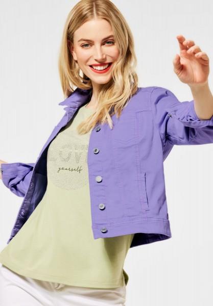Street One - Kurze Indoor Jacke in Clear Lilac Soft Wash