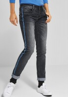 Street One - Casual Fit Denim Crissi in Authentic Grey Random Bleach