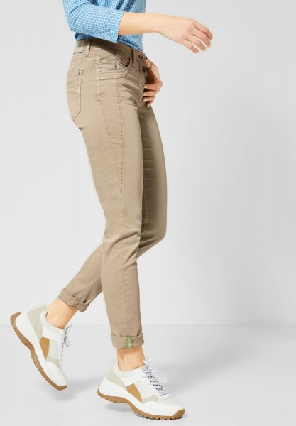 CECIL - Colour Hose im Casual Fit in Dusty Sand Beige