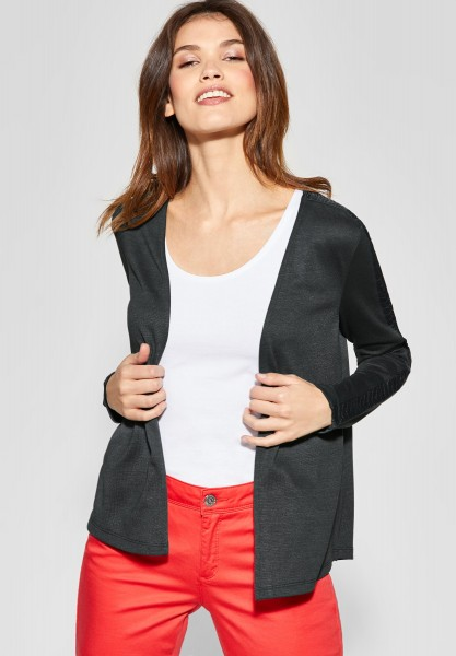 Street One - Shirtjacke mit Spitze Nette in Chilled Green