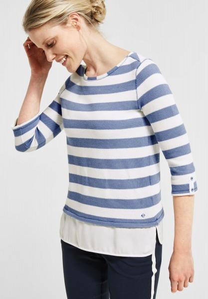 CECIL - Streifenshirt Astrid in Mute Blue
